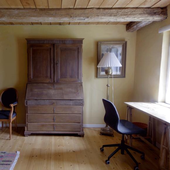 Leif Hasles værelse på Vindbyholtgårds refugium.